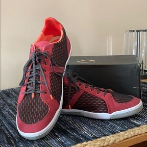 Voltage red Prospect Shoes. Barely used with box.